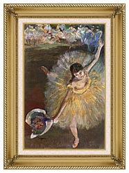 Edgar Degas Fin Darabesque canvas with gallery gold wood frame