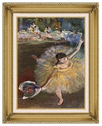 Edgar Degas Fin Darabesque Detail canvas with gallery gold wood frame