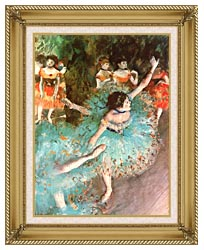 Edgar Degas The Green Dancer canvas with gallery gold wood frame