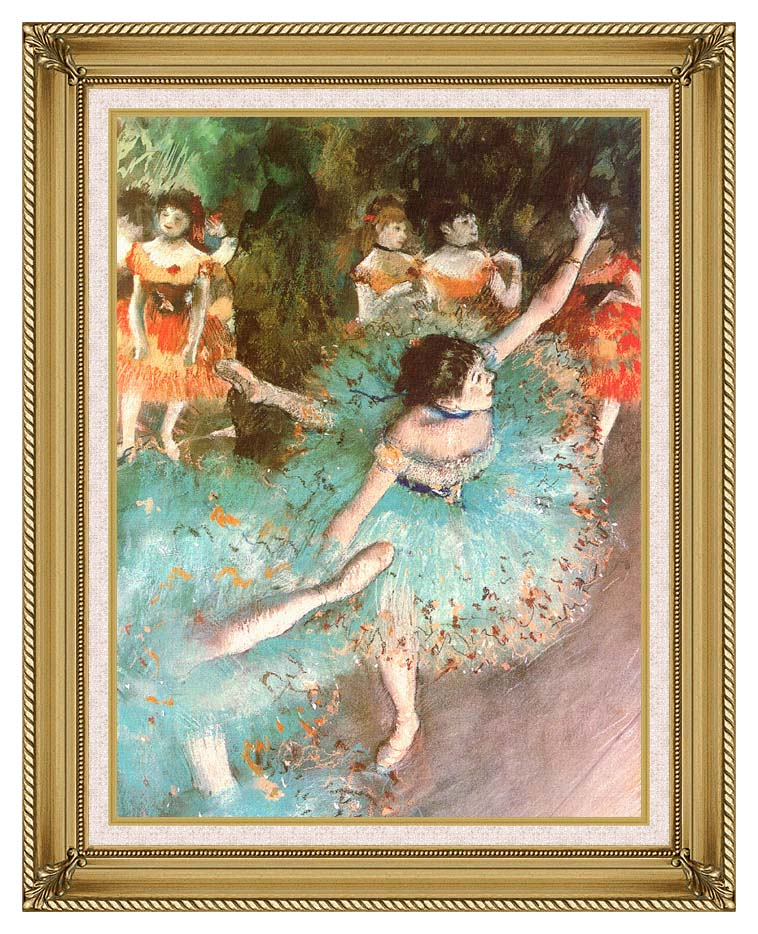 Edgar Degas The Green Dancer with Gallery Gold Frame w/Liner