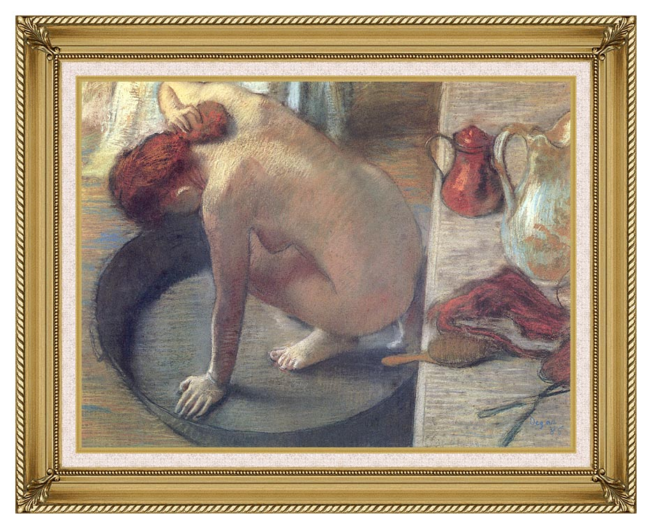Edgar Degas Degas The Tub with Gallery Gold Frame w/Liner