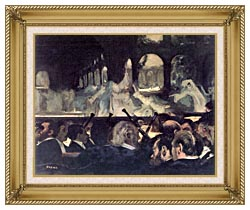 Edgar Degas Ballet Scene From Robert The Devil canvas with gallery gold wood frame