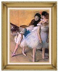 Edgar Degas Before The Rehearsal canvas with gallery gold wood frame