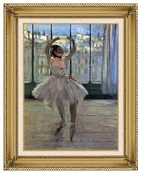 Edgar Degas Dancer Posing For A Photographer   Dancer Before A Window canvas with gallery gold wood frame