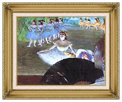 Edgar Degas Dancer With A Bouquet canvas with gallery gold wood frame