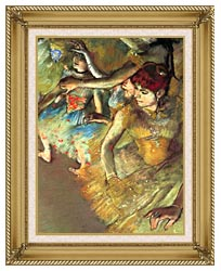 Edgar Degas Dancers canvas with gallery gold wood frame