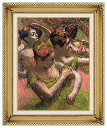 Edgar Degas Ballet Dancers canvas with gallery gold wood frame