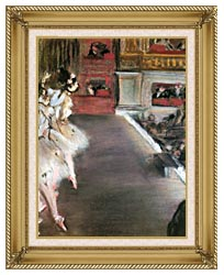 Edgar Degas Dancers At The Old Opera House canvas with gallery gold wood frame