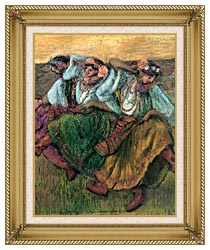 Edgar Degas Les Danseuses Russes canvas with gallery gold wood frame