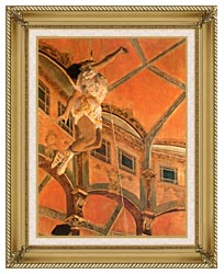 Edgar Degas Miss Lala At Cirque Fernando canvas with gallery gold wood frame