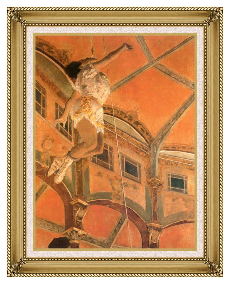 Edgar Degas Miss Lala at Cirque Fernando with Gallery Gold Frame w/Liner