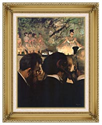 Edgar Degas Musicians In The Orchestra canvas with gallery gold wood frame