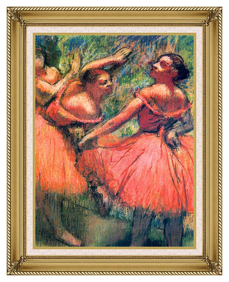 Edgar Degas Red Skirts with Gallery Gold Frame w/Liner