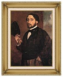 Edgar Degas Edgar Degas Self Portrait canvas with gallery gold wood frame