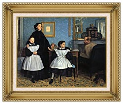 Edgar Degas The Bellelli Family canvas with gallery gold wood frame