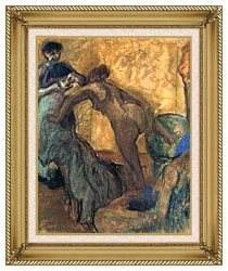 Edgar Degas The Cup Of Chocolate canvas with gallery gold wood frame