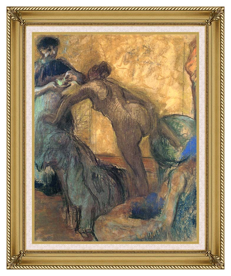 Edgar Degas The Cup of Chocolate with Gallery Gold Frame w/Liner