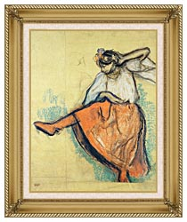 Edgar Degas The Russian Dancer canvas with gallery gold wood frame