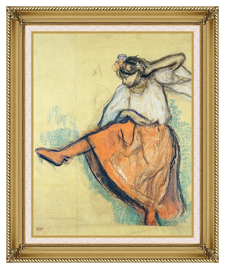 Edgar Degas The Russian Dancer with Gallery Gold Frame w/Liner