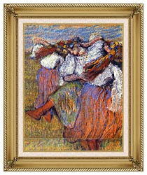 Edgar Degas The Russian Dancers canvas with gallery gold wood frame