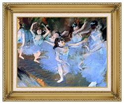 Edgar Degas The Star Dancers Detail canvas with gallery gold wood frame