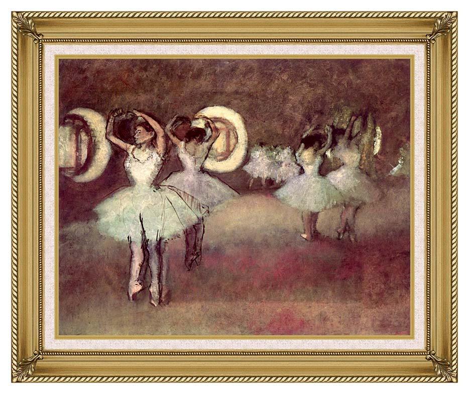 Edgar Degas Dancers in the Foyer with Gallery Gold Frame w/Liner
