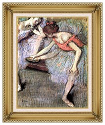 Edgar Degas Danseuses canvas with gallery gold wood frame