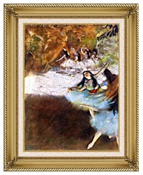 Edgar Degas Ballet On The Stage canvas with gallery gold wood frame
