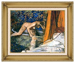 Edgar Degas The Bath Impressionism canvas with gallery gold wood frame