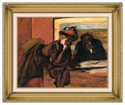 Edgar Degas The Conversation canvas with gallery gold wood frame