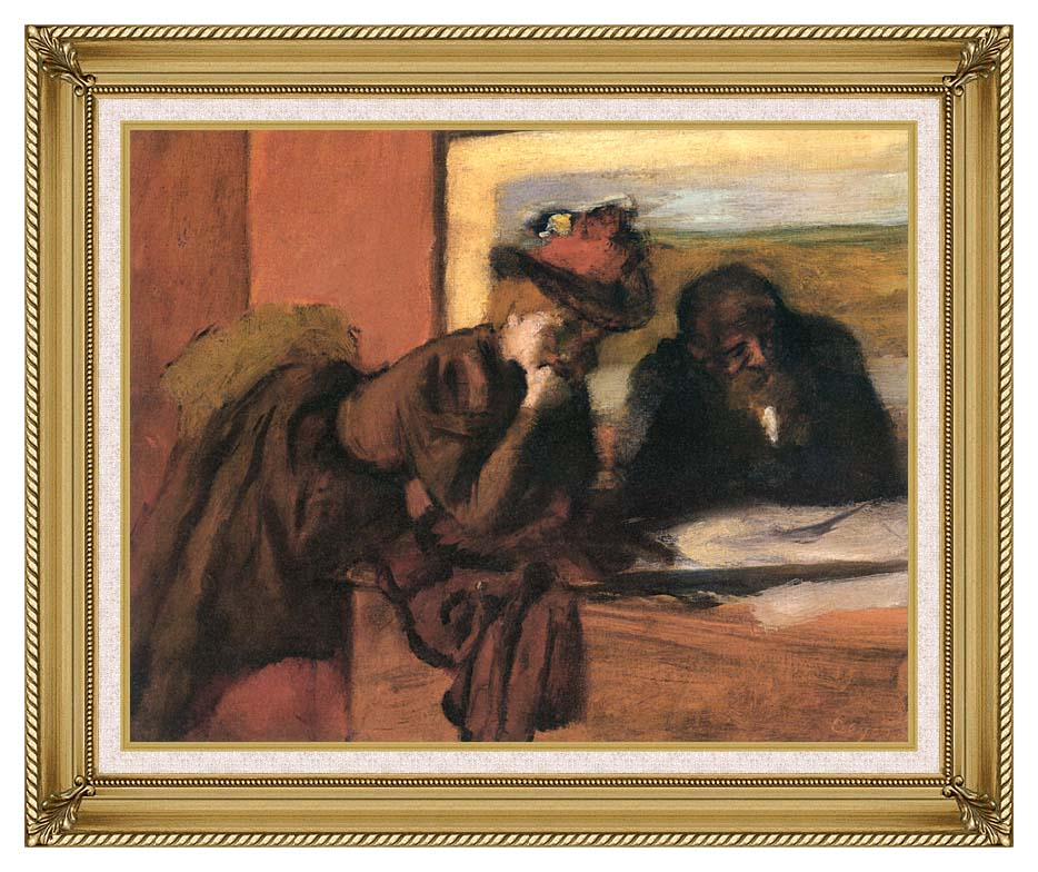 Edgar Degas The Conversation with Gallery Gold Frame w/Liner
