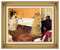 Edgar Degas The Song Rehearsal canvas with gallery gold wood frame