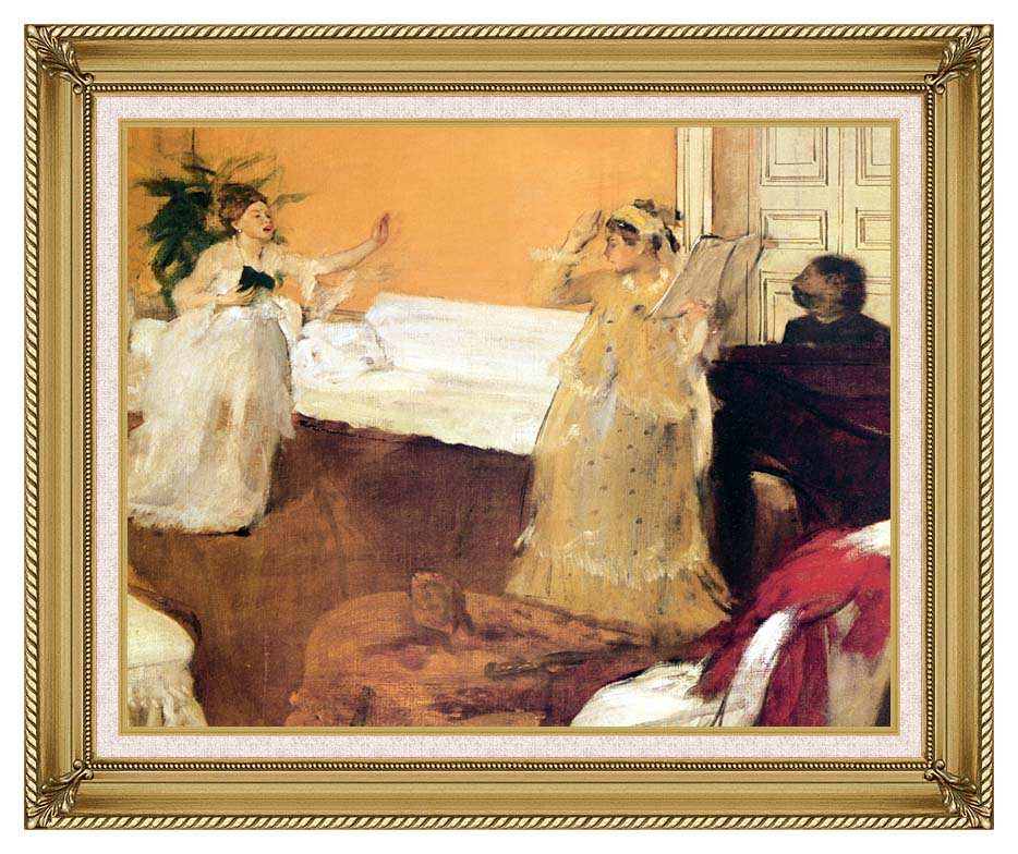 Edgar Degas The Song Rehearsal with Gallery Gold Frame w/Liner