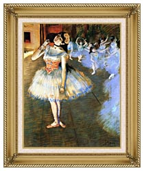 Edgar Degas The Star Impressionist Art canvas with gallery gold wood frame
