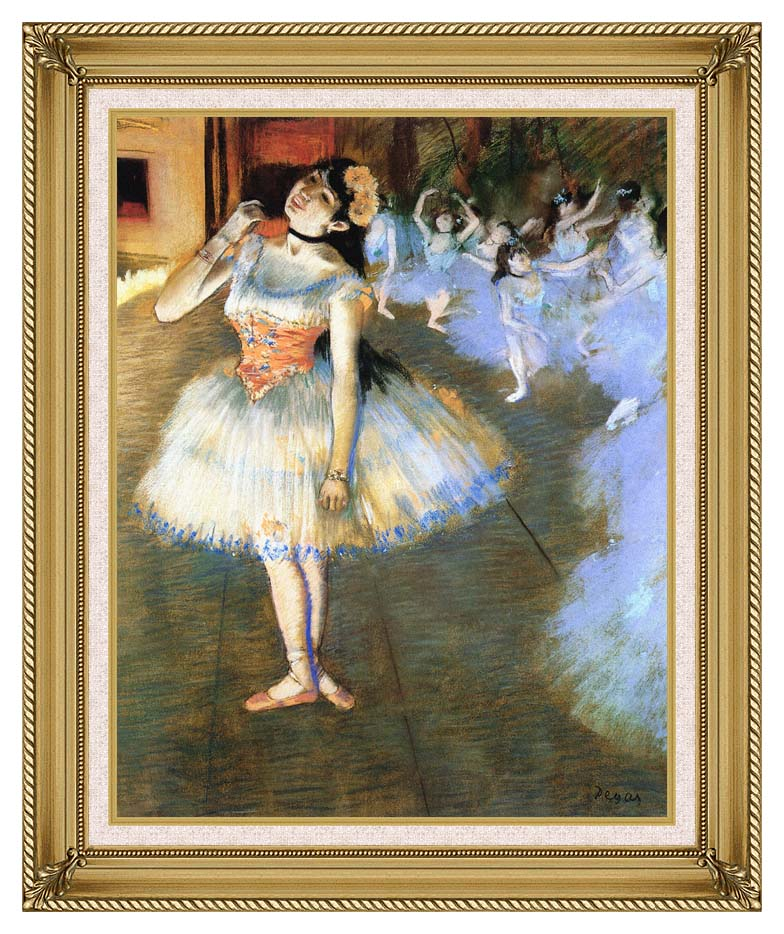 Edgar Degas The Star Impressionist Art with Gallery Gold Frame w/Liner