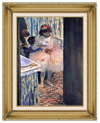 Edgar Degas Dancer In Her Dressing Room canvas with gallery gold wood frame