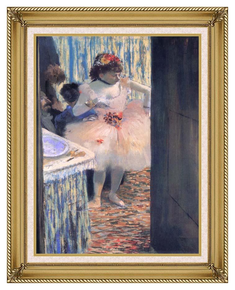 Edgar Degas Dancer in Her Dressing Room with Gallery Gold Frame w/Liner