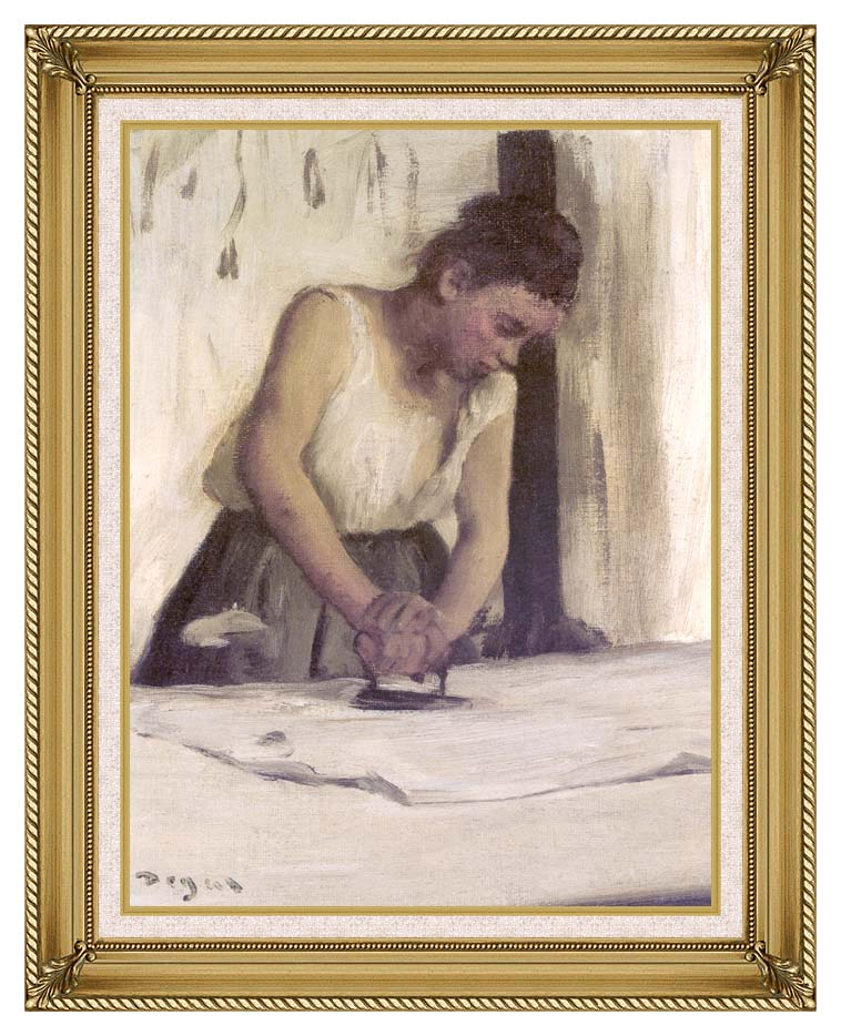 Edgar Degas Laundress with Gallery Gold Frame w/Liner