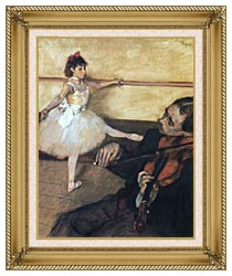 Edgar Degas The Dance Lesson canvas with gallery gold wood frame