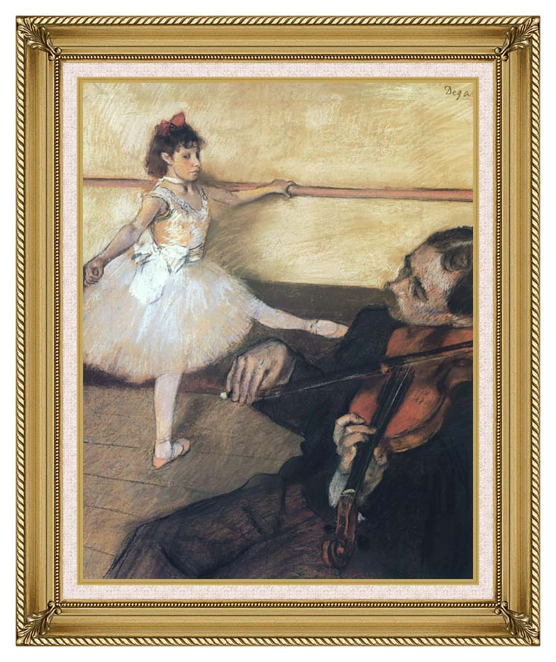Edgar Degas The Dance Lesson with Gallery Gold Frame w/Liner
