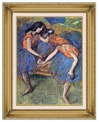 Edgar Degas Degas Ballerinas canvas with gallery gold wood frame