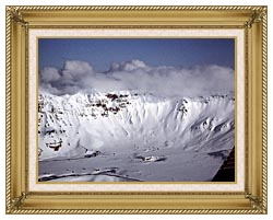 U S Fish And Wildlife Service Aniakchak Caldera canvas with gallery gold wood frame