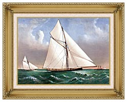 Currier And Ives Cutter Genesta RY canvas with gallery gold wood frame