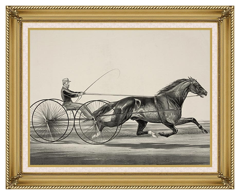 Currier and Ives Dan Rice - Owned by T.M. Lyom Portsmouth, Ohio with Gallery Gold Frame w/Liner
