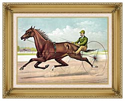 Currier And Ives Edwin Thorne canvas with gallery gold wood frame