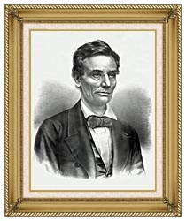 Currier And Ives Hon Abraham Lincoln Of Illinois canvas with gallery gold wood frame