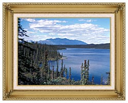 U S Fish And Wildlife Service Blackfish Lake canvas with gallery gold wood frame