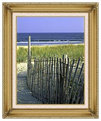 U S Fish And Wildlife Service Chincoteague National Wildlife Refuge canvas with gallery gold wood frame