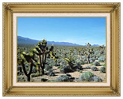 U S Fish And Wildlife Service Yucca Forest canvas with gallery gold wood frame