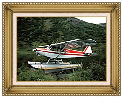 U S Fish And Wildlife Service Float Plane canvas with gallery gold wood frame